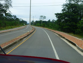 Photo: The new road from La Punta to Tena; the segment to the new airport.  Note bike lane.