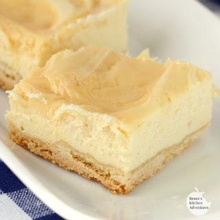 Creamy Lemon Swirl Cheesecake Bars
