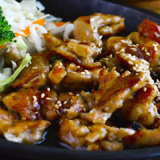 Delicious Teriyaki Chicken With Sesame Seeds, Rice & Steaming Broccoli