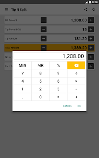 Tip N Split Tip Calculator- screenshot thumbnail