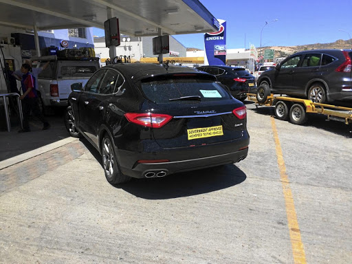 Just how fast can a Maserati Levante pull a Honda CR-V on a trailer?    Picture: LEON POTGIETER