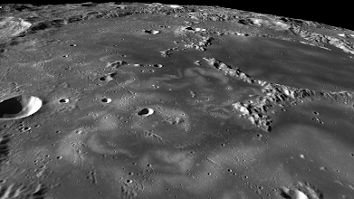 Photo: Swirling coloration in Mare Ingenii, one of few mare on the lunar far side.