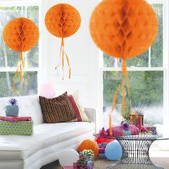 Dekorationsboll, orange