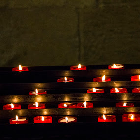 Candles by Leonor Machado - Abstract Fire & Fireworks ( church, candles, hot, lisbon, fire,  )