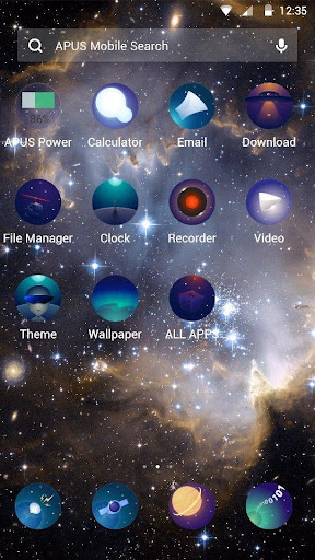 The vast universe theme - screenshot
