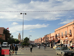 Photo: since it is the tallest structure in Marrakech, Koutoubia Mosque can be seen in most places in Marrakech