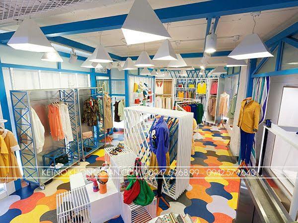thiết kế shop thời trang đầy màu sắc 1