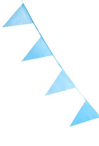 Babyshower Flaggirlang blå 10m