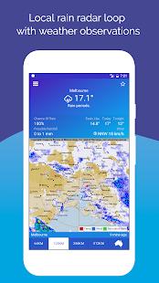 AUS Rain Radar - Bom Radar - náhled