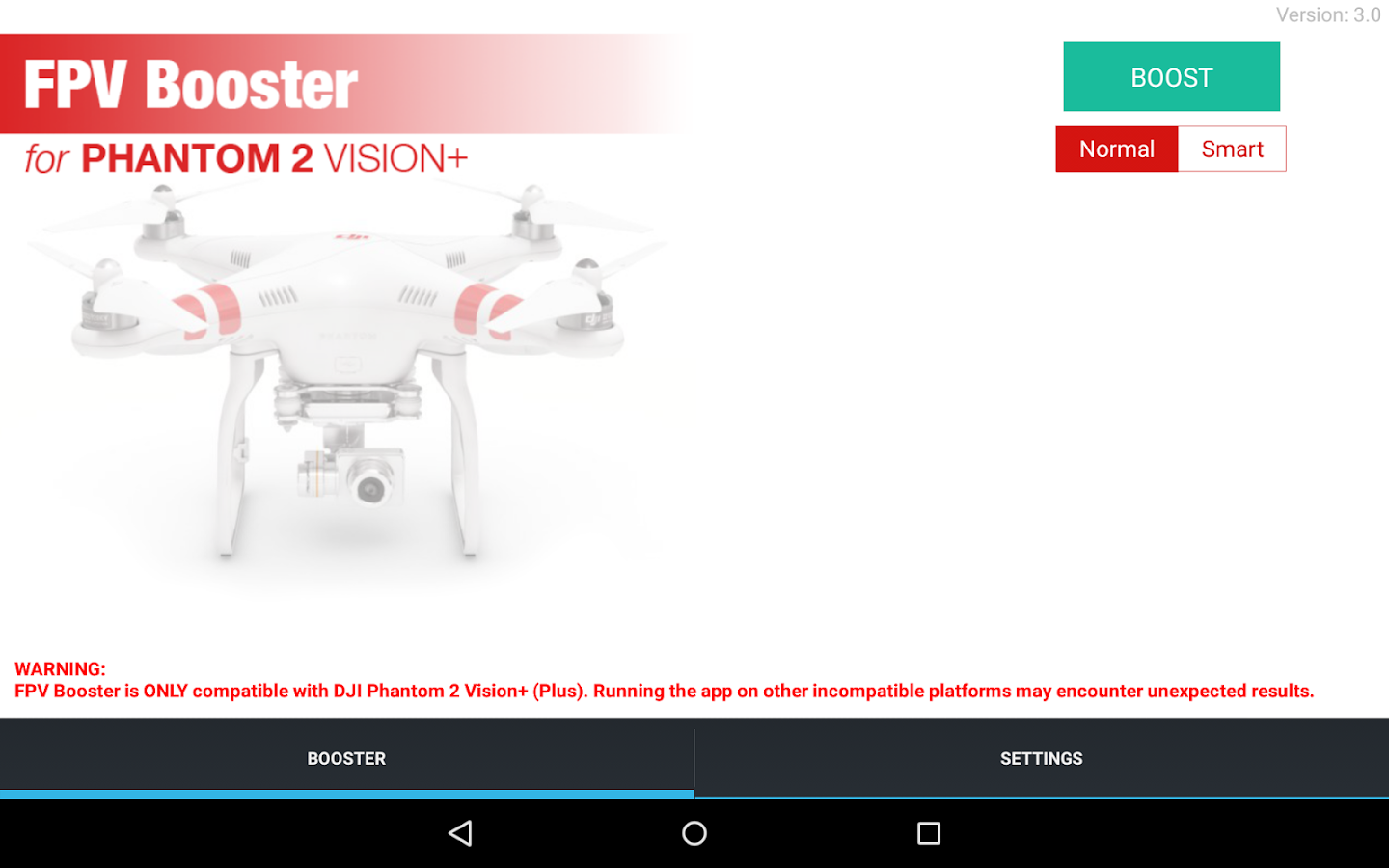FPV Booster for DJI Vision +- screenshot