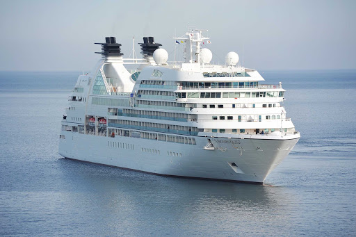 The 450-passenger Seabourn Quest in the Baltic Sea.