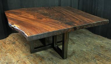 Photo: http://dorsetcustomfurniture.blogspot.com/2016/04/claro-walnut-slab-tables.html