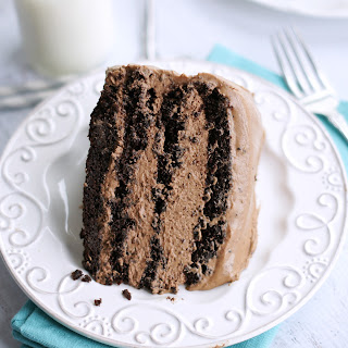 Chocolate Mousse Layer Cake.