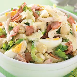 Creamy Bacon and Egg Pasta Salad.