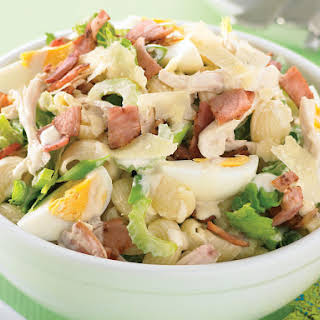 Creamy Bacon and Egg Pasta Salad.