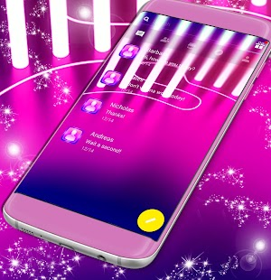 Pink Neon SMS Theme - náhled