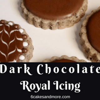 Dark Chocolate Royal Icing.