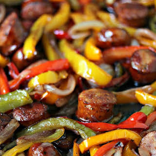 Sheet Pan Sausage and Peppers.