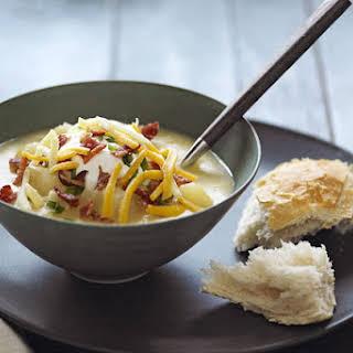 Slow-Cooker Loaded Baked Potato Soup.