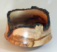 Photo: Richard Webster 4 1/2 x 7 1/2 natural edge bowl [dogwood]