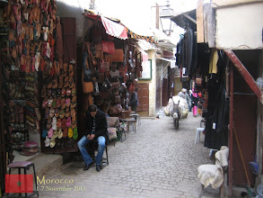 Photo: souqs (local market) inside the old medina of Fes... as you can see here, mules are used to transport goods inside the car-free medina