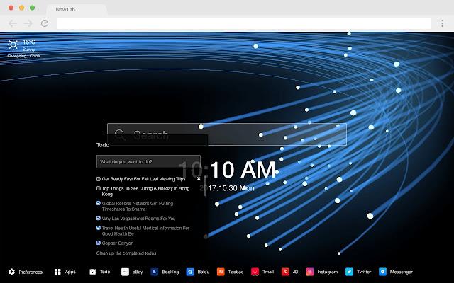 Light wave new tab HD per pop creative theme