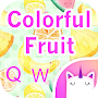 Colorful Fruit Emoji & GIF Keyboard Theme