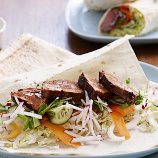 Sticky Pork Wrap.