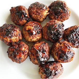 Jalapeno Turkey Meatballs with Chipotle Honey Sauce