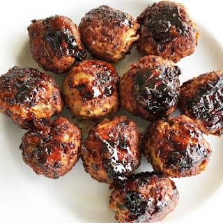 Jalapeno Turkey Meatballs with Chipotle Honey Sauce.