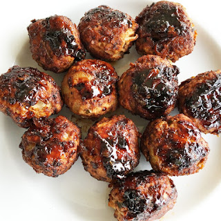 Jalapeno Turkey Meatballs with Chipotle Honey Sauce.