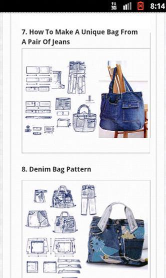 100 diy jeans bag android apps on google play. Black Bedroom Furniture Sets. Home Design Ideas
