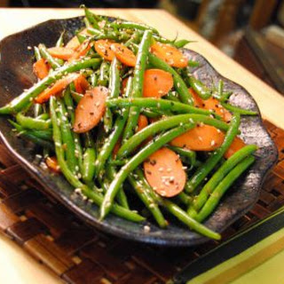 Ginger Carrots and Sesame Green Beans.