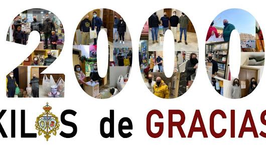 2000 'kilos de juventud': el balance de la última iniciativa solidaria de 2020
