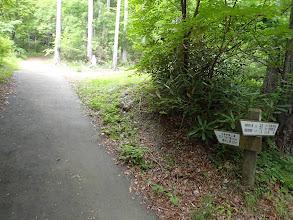 入口の標識(山頂まで230分…)