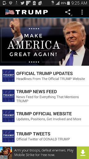 PRESIDENT TRUMP NEWS Screenshot