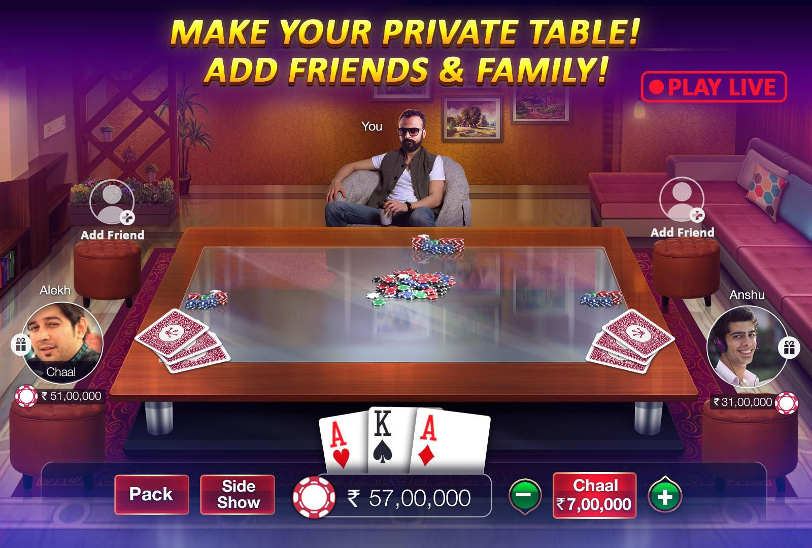 Teen Patti Gold Mod Apk (Unlimited Chips / Mod) Hack 2