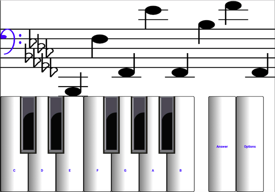 Piano piano note sheet : 1 learn sight read music notes - piano sheet tutor - Android Apps ...