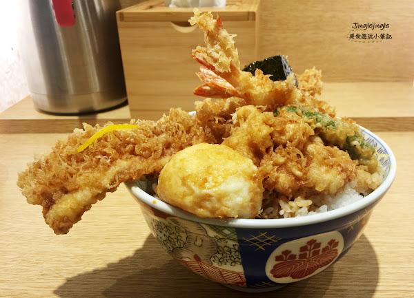 金子半之助(台中新光三越店)。日本人氣丼飯,300年秘製醬油與炸物充滿的一大碗