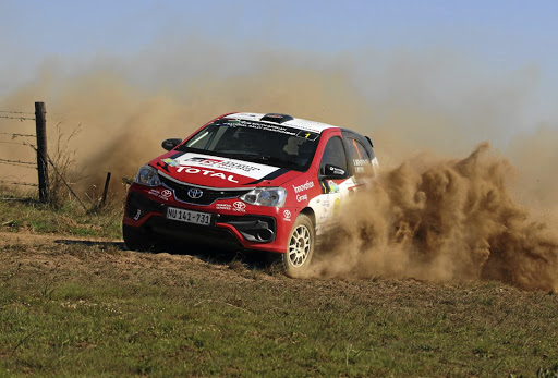 Guy Botterill and Simon Vacy-Lyle clinch the SA Rally title in Ermelo.