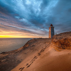 Rubjerg knude fyr by M. Andersen - Landscapes Sunsets & Sunrises