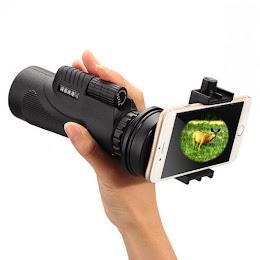 Obiectiv foto - Telescop portabil focalizare zoom 12x cu suport de telefon