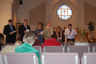 Photo: Commissioning Service at Lawrenceville First Christian Church on 1/29/12