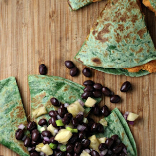 Sweet Potato Quesadillas With Black Bean Pineapple Salsa ~vegetarian~