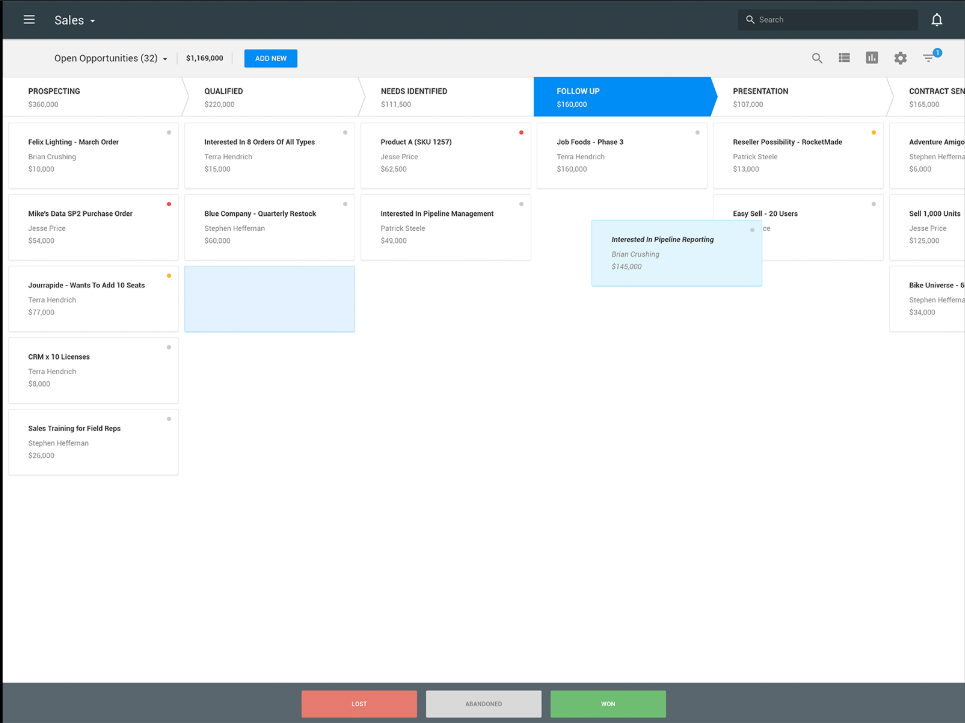 use a crm to keep on top of who've you already emailed, who to follow up with, and more.