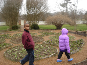 Photo: Q and Kaleya in the garden