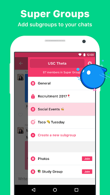 Sochat: group chat for friends - screenshot