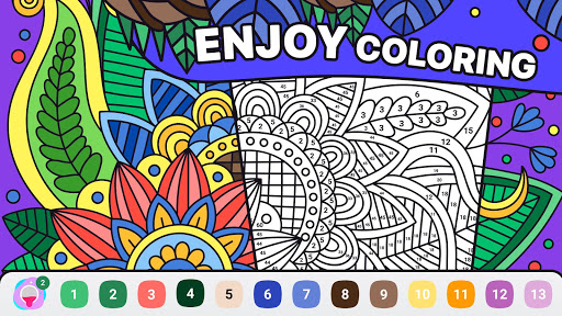 BATIQ ud83cudfa8 Coloring book by number | Color Therapy Apk 1