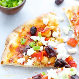 Mediterranean Pizza With Feta Cheese.