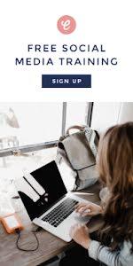 Claudia Social Media - Half Page Ad Template